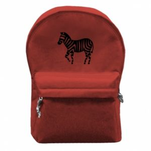 Plecak z przednią kieszenią Zebra with color stripes