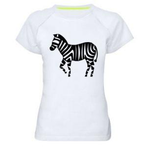 Koszulka sportowa damska Zebra with color stripes
