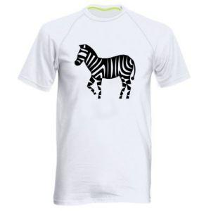 Koszulka sportowa męska Zebra with color stripes