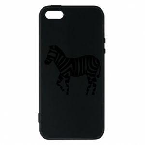 Etui na iPhone 5/5S/SE Zebra with color stripes