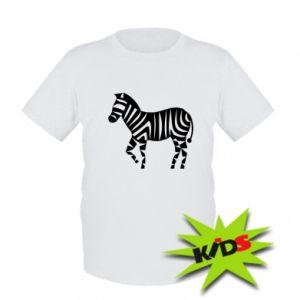 Dziecięcy T-shirt Zebra with color stripes
