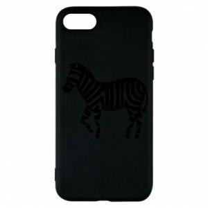 Etui na iPhone 7 Zebra with color stripes