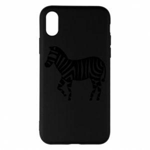 Etui na iPhone X/Xs Zebra with color stripes