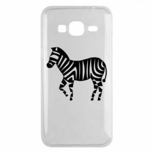 Etui na Samsung J3 2016 Zebra with color stripes