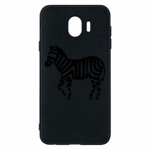 Etui na Samsung J4 Zebra with color stripes