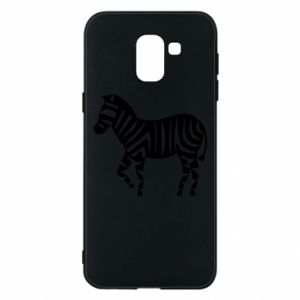 Etui na Samsung J6 Zebra with color stripes