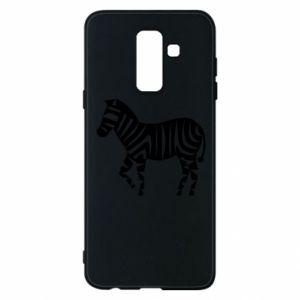Etui na Samsung A6+ 2018 Zebra with color stripes