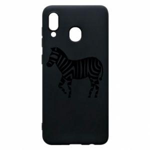 Etui na Samsung A20 Zebra with color stripes
