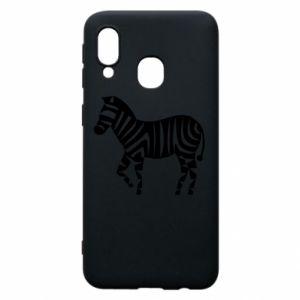 Etui na Samsung A40 Zebra with color stripes