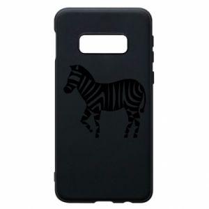 Etui na Samsung S10e Zebra with color stripes
