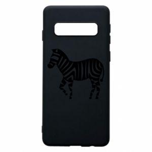 Etui na Samsung S10 Zebra with color stripes