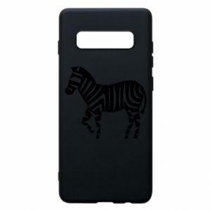 Etui na Samsung S10+ Zebra with color stripes