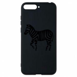 Etui na Huawei Y6 2018 Zebra with color stripes