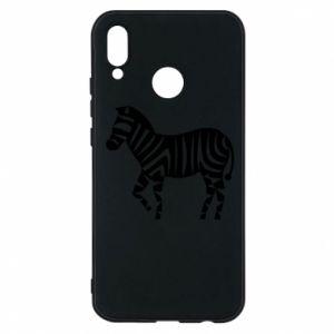 Etui na Huawei P20 Lite Zebra with color stripes
