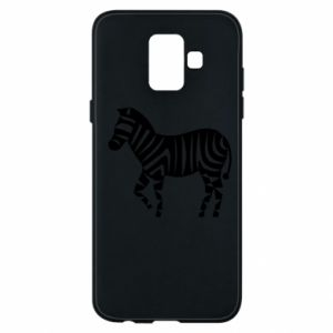Etui na Samsung A6 2018 Zebra with color stripes