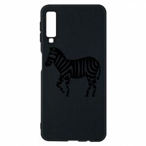 Etui na Samsung A7 2018 Zebra with color stripes