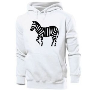 Men's hoodie Zebra with color stripes