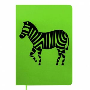 Notes Zebra with color stripes