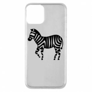 Etui na iPhone 11 Zebra with color stripes