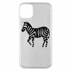 Etui na iPhone 11 Pro Zebra with color stripes