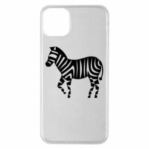 Etui na iPhone 11 Pro Max Zebra with color stripes