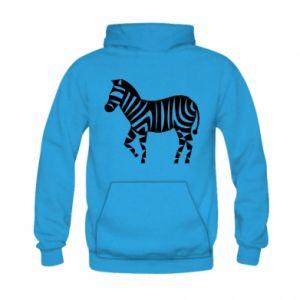 Bluza z kapturem dziecięca Zebra with color stripes