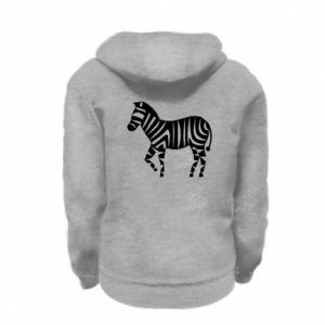 Bluza na zamek dziecięca Zebra with color stripes