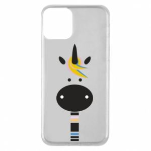 Etui na iPhone 11 Zebra with colored stripes on the neck