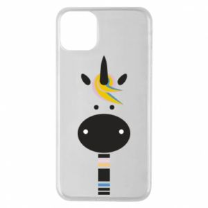 Etui na iPhone 11 Pro Max Zebra with colored stripes on the neck