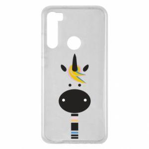Etui na Xiaomi Redmi Note 8 Zebra with colored stripes on the neck