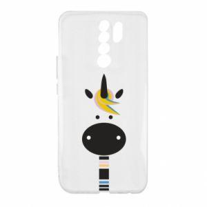 Etui na Xiaomi Redmi 9 Zebra with colored stripes on the neck