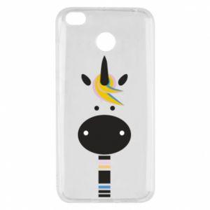Etui na Xiaomi Redmi 4X Zebra with colored stripes on the neck