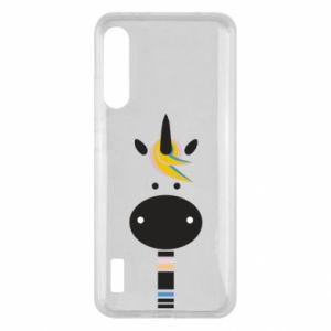 Etui na Xiaomi Mi A3 Zebra with colored stripes on the neck