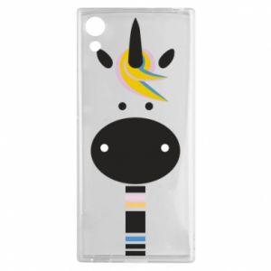 Etui na Sony Xperia XA1 Zebra with colored stripes on the neck