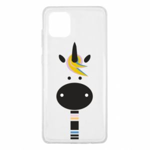 Etui na Samsung Note 10 Lite Zebra with colored stripes on the neck
