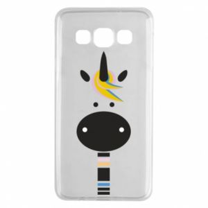Etui na Samsung A3 2015 Zebra with colored stripes on the neck