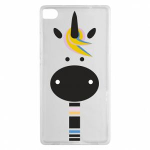 Etui na Huawei P8 Zebra with colored stripes on the neck