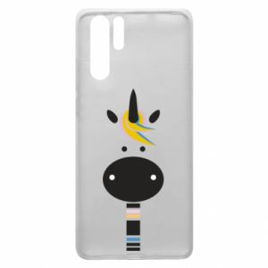 Etui na Huawei P30 Pro Zebra with colored stripes on the neck