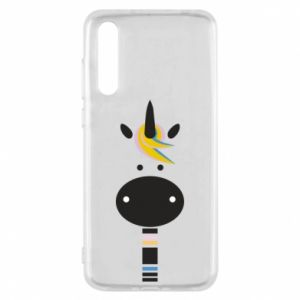 Etui na Huawei P20 Pro Zebra with colored stripes on the neck