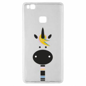 Etui na Huawei P9 Lite Zebra with colored stripes on the neck