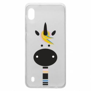 Etui na Samsung A10 Zebra with colored stripes on the neck
