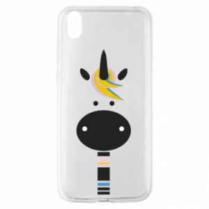 Etui na Huawei Y5 2019 Zebra with colored stripes on the neck