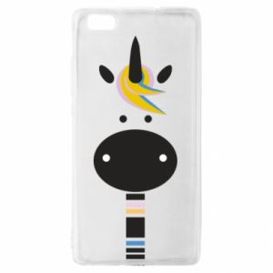 Etui na Huawei P 8 Lite Zebra with colored stripes on the neck
