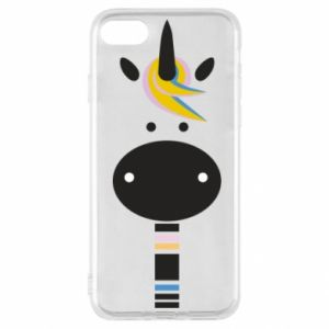 Etui na iPhone SE 2020 Zebra with colored stripes on the neck