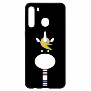 Etui na Samsung A21 Zebra with colored stripes on the neck