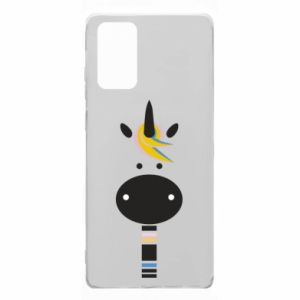 Etui na Samsung Note 20 Zebra with colored stripes on the neck