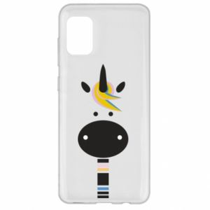 Etui na Samsung A31 Zebra with colored stripes on the neck