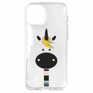 Etui na iPhone 12 Mini Zebra with colored stripes on the neck