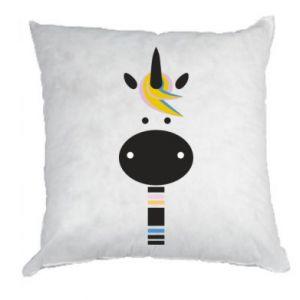 Pillow Zebra with colored stripes on the neck - PrintSalon
