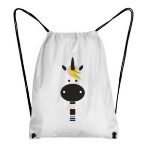 Backpack-bag Zebra with colored stripes on the neck - PrintSalon